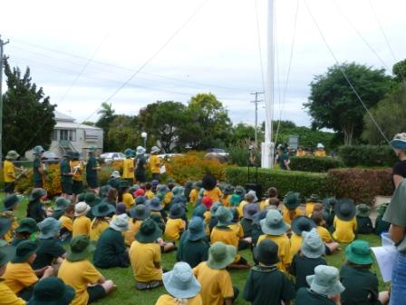 ANZAC ceremony at Albert State School